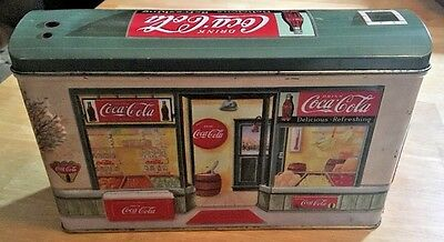 Coca-Cola Collectible Tin Storefront