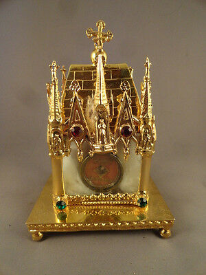 [+] Relic Saint Alphonsus Maria de Liguori, Jeweled Gothic Shrine