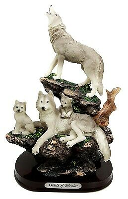 "12.5"" Height Wolves Family Howling Wolf Pack World of Wonders Figurine Statue"