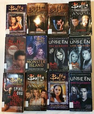 Lot Of 12 Buffy The Vampire Slayer Tie In Young Adult Novels Angel Spike