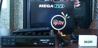 MEGA TVi SHD3000 HD FTA Satellite PVR Receiver & IPTV sk200