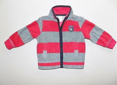 Carter's Baby Boys Red/Gray Zipper Jacket Polyester NWOT Size 9M