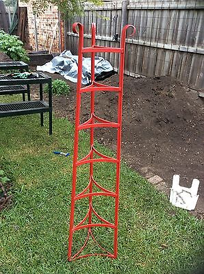 Red Metal Vintage Pot Stand/ Plant Stand