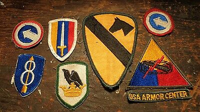 Vietnam War vintage lot of 7 U.S. Army Cavalry & Command patches & tab