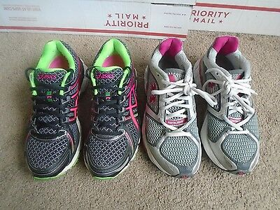 Women's Asics Gel Kayano 19. Under Armour, 2 pairs athletic running shoes size 6