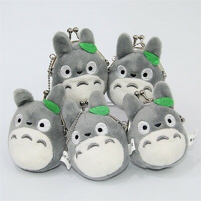 Studio Ghibli My Neighbor Totoro Left Plush Doll Toy Soft Mini Coin Bag Holder