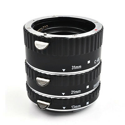 Meike Macro Extension Tube Set for Canon with auto focus MK-C-AF-A metal from UK