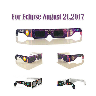 Solar Eclipse Glasses for August 21,2017 (10 Packs) CE and ISO Standard Viewing