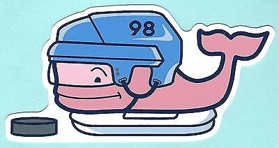 New Authentic Vineyard Vines Hockey Pink Whale Sticker Decal Free Shipping