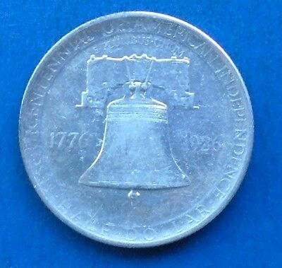 Uncirculated 1926 Sesquicentennial Commemorative Silver Half Dollar