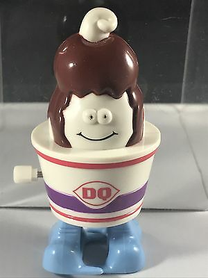 1998 Dairy Queen Sundae Wind Up Toy Advertising Character Dq Vintage White Knob