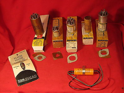 Vintage lot of NOS large can type capacitors Aerovox CDE Sprague