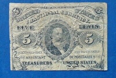 US Five (5) Cent Fractional Note Currency, Third Issue