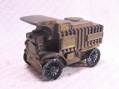 Vintage Collectible 1906 Mack Truck Replica Toy Coin Bank Cast Metal