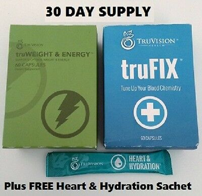 TruVision Health - 30 day supply of Gen1 TruWeight & Energy and Trufix
