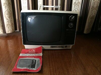 Vintage Hmv His Masters Voice Portable TV Television 📺 With Manual Mancave