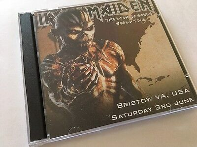 Iron Maiden Double CD Bristow Virginia USA The Book Of Souls Tour 2017