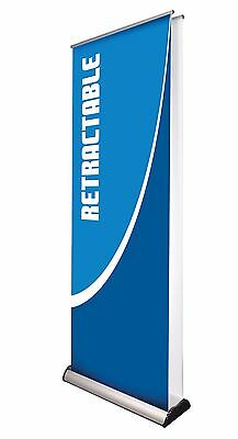 Retractable BANNER STAND 33'' x 79 '' + CUSTOM BANNER Vinyl Print HD Full Color