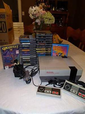 NES System and 23 Games Nintendo System, Zelda, Punch out, Mario, Rare