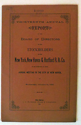 New York, New Haven & Hartford Railroad annual report for 1884