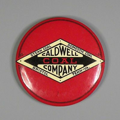 Paperweight mirror - Caldwell Coal Company - Bristol, Tennessee - coal mining