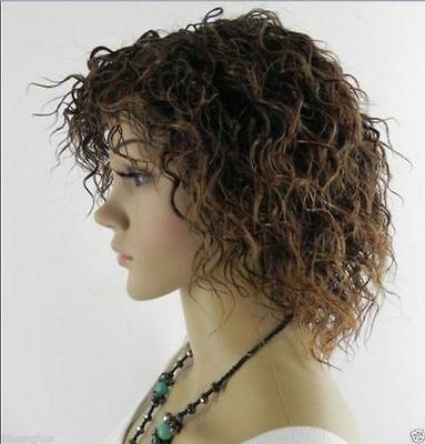 HE-J1305 fancy new style short brown curly hair lady wigs for women wig