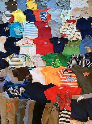 Huge 66 Piece Lot Of Baby Boy Clothes 3-6 Months