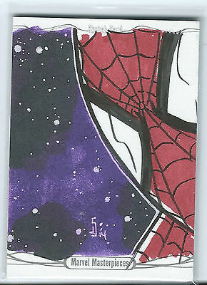 Marvel Masterpieces Artist Sketch Spiderman Jamie Snell 1/1
