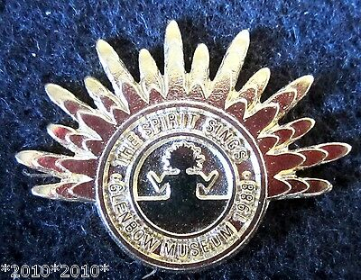 The Spirit Sings 1988 olympics  Glenbow Museum gold pin