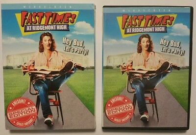 Fast Times at Ridgemont High w/ Slipcover (DVD, 2004) Sean Penn Phoebe Cates