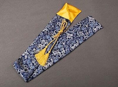 "53"" Chinese Blue Dragon Silk Sword Bag for Japanese Samurai Sword Katana"