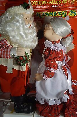 Telco Mommy Kissing Santa Claus Musical & Animated
