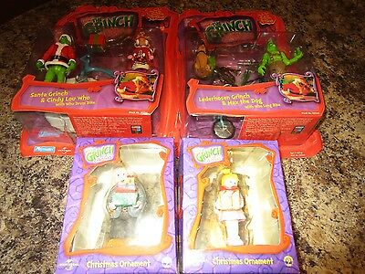 THE GRINCH  LOT   Santa Grinch   Cindy Lou Who drum bike 2000 boxed playmates