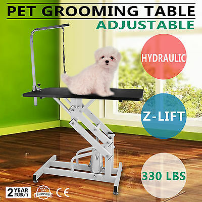 Z-lift Hydraulic Dog Cat Pet Grooming Table detachable w/Arm Height Adjustable
