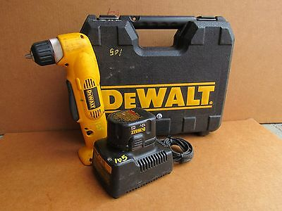Dewalt Cordless Right Angle Drill/driver Dw965, Battery, Charger And Case
