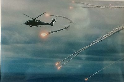 "U.S Navy Real Photo - Military Helicopters- Anti Missile Defense  - 18"" x 12"""