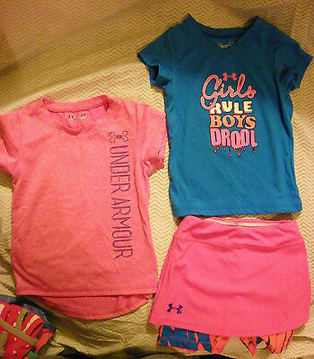 Lot of 4 girls Under Armour toddler clothes EUC size 2T and 3T