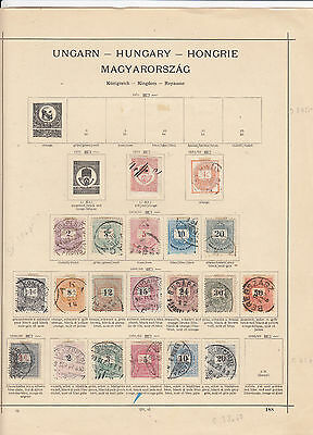 Hungary small selection of old stamps