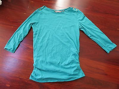 teal maternity top (size 12)