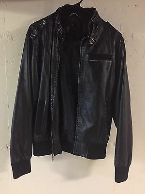 Members Only black leather jacket - Size: Men's Small