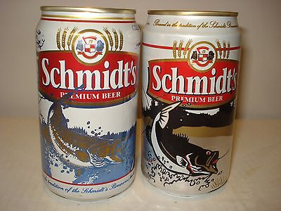 Lot of 2 Schmidt's Collector beer cans - Fish