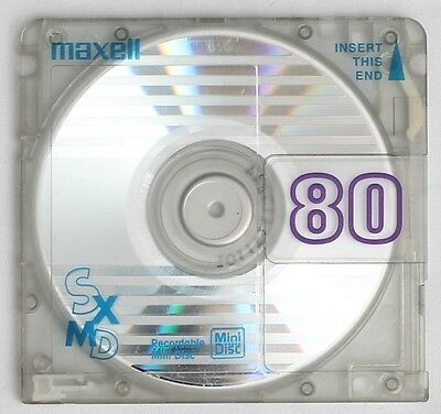 Genuine MAXELL 'SXMD' Translucent Recordable MiniDisc 80 Minutes w/ Case