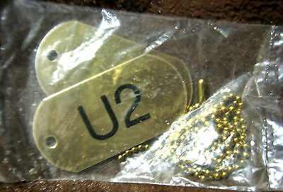 U2 The Best Of 1980-1990 Rare Set Of 2 Promo Dog Tags Pack New Sealed Bono 1998