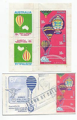 67th Conference Balloon Flight Sydney- Block of 5 Sheetlet  Poster Stamps+ facsi