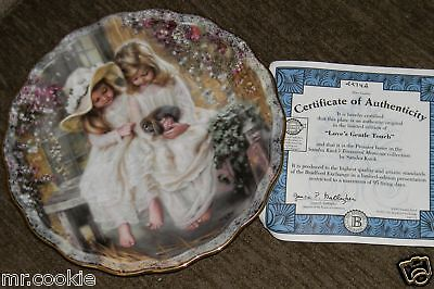 Love's Gentle Touch Plate by Sandra Kuck Treasured Moments COA 1293A
