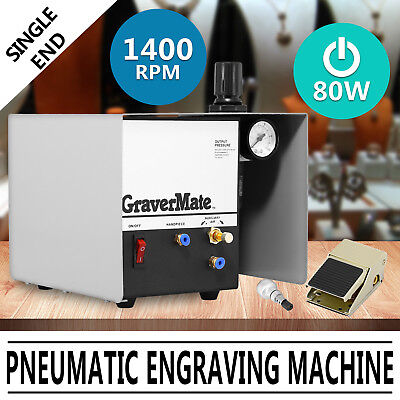 Pneumatic Jewelry Engraving Machine Engraver Single Ended Graver Tool 220V