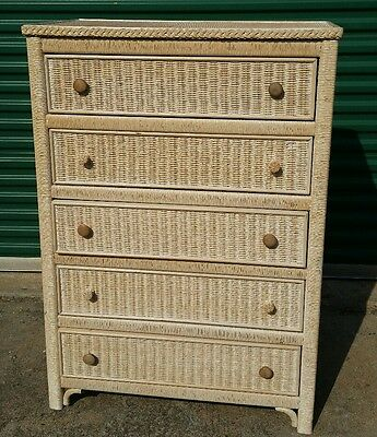 Henry Link USA Chest of Drawers Dresser Wicker Rattan/ solid wood
