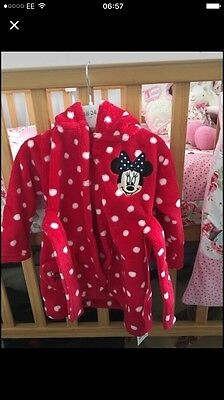 Minnie Mouse Dressing Gown 6-9 Mths