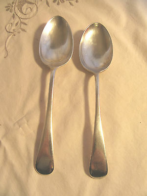 2 X Vintage Silver Plate Epns A1 Tablespoons - Grosvenor Plate & Paramount Speci