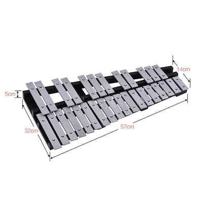 Hot 30 Note Glockenspiel Xylophone Vibraphone Percussion+Mallets Bag Xmas Gift